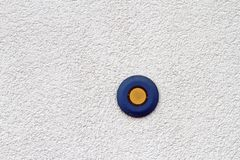 Blue and yellow button Stock Photo