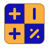 The blue-and-yellow calculator Royalty Free Stock Photography