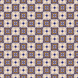 Blue and yellow ceramic tile pattern Stock Photo