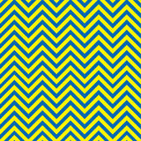 Blue and yellow chevron pattern Royalty Free Stock Image