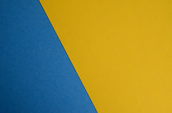 Blue and yellow. Close up view of colorful paper texture Royalty Free Stock Photo