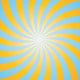 Blue and yellow color burst background. Stock Photography