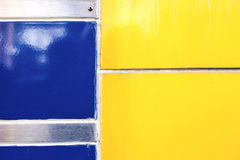 Blue and yellow composition Royalty Free Stock Photos