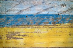 Blue/yellow concrete texture rough grunge close up, wallpaper, royalty free stock images
