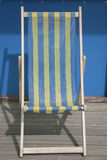 Blue and Yellow Deckchair Stock Image