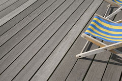 Blue and Yellow Deckchair Royalty Free Stock Image