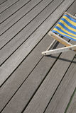 Blue and Yellow Deckchair Stock Photo