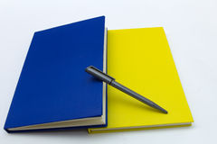 Blue and yellow Diary Royalty Free Stock Photos