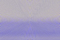 Blue yellow dotted halftone. Horizontal round dotted gradient. Half tone vector background. Artificial texture. Yellow ink dot on blue backdrop. Modern pop art Royalty Free Stock Images