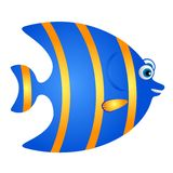 Blue and yellow Fish cartoon Stock Photography