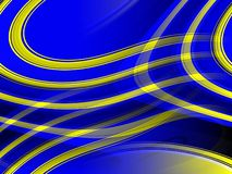 Blue yellow gold vivid shapes background, abstract colorful geometries stock image