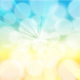 Blue and Yellow golden sunburst with bokeh Background vector illustration