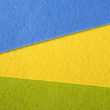 Blue, yellow and green felt texture Stock Photos
