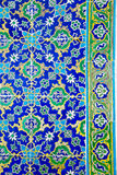 Blue-yellow-green mosaic tiles Stock Images