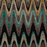 Blue, yellow and grey waves lines pattern fabric Stock Photos