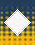 Blue and yellow halftone corporate background Royalty Free Stock Photos