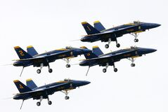 Blue and Yellow Jets Royalty Free Stock Photos