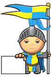 Blue and Yellow Knight Character Stock Photography