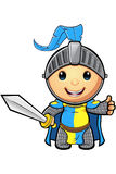 Blue and Yellow Knight Character Stock Images