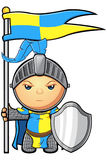Blue and Yellow Knight Character Stock Image
