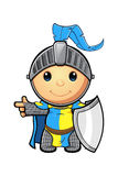 Blue and Yellow Knight Character Royalty Free Stock Photos
