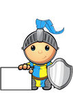 Blue and Yellow Knight Character Stock Photos