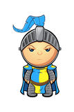 Blue and Yellow Knight Character Royalty Free Stock Image