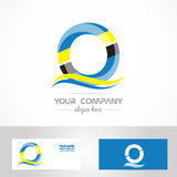 Blue yellow letter o logo Stock Photography