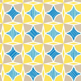 Blue and yellow marble textured tiles seamless Royalty Free Stock Photo