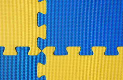 Blue and yellow mats Royalty Free Stock Photos