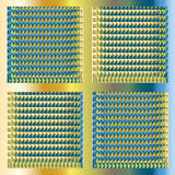 Blue yellow metal background Stock Photo