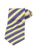 Blue and yellow necktie roled Stock Image
