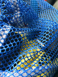 Blue and yellow netting Royalty Free Stock Images