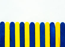 Blue and yellow paling Stock Image