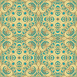 Blue and yellow pattern Royalty Free Stock Images