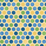 Blue Yellow Polka Dot Background Stock Photography
