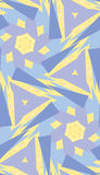 Blue and Yellow Polygonal Pattern. Seamless pattern of triangular and polygonal shapes Stock Photo