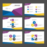 Blue yellow purple Abstract presentation template Infographic  Royalty Free Stock Images
