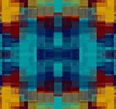 Blue yellow and red plaid pattern abstract. Background Royalty Free Illustration