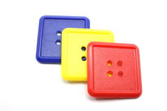 Blue Yellow and Red Square Buttons Royalty Free Stock Photography