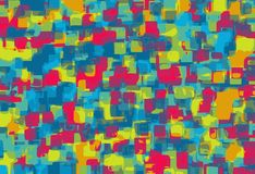 Blue yellow and red square pattern. Abstract background Vector Illustration