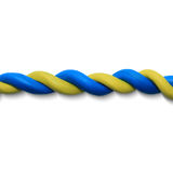 Blue yellow rope. As a Ukrainian flag. Vector illustration. Plasticine modeling Royalty Free Stock Photography