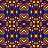Blue yellow seamless pattern Stock Photos