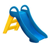 Blue and yellow slide Royalty Free Stock Images
