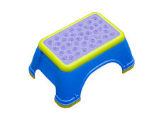 Blue and yellow small Stool Royalty Free Stock Images