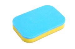Blue yellow sponge Royalty Free Stock Image