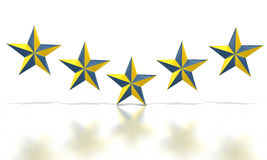 Blue yellow stars Royalty Free Stock Photos
