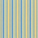 Blue and Yellow Striped Fabric Swatch Royalty Free Stock Image