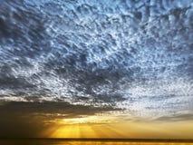 Blue Yellow Sunset. Stock Photography