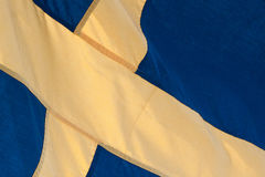 Blue and yellow Sweden flag Stock Photography